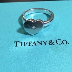 RTRD Tiffany & Co Picasso Modern heart diamond rng
